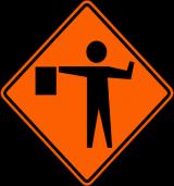 W20-7 Flagger Symbol