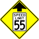 W3-5 Reduced Speed Limit Ahead Sign