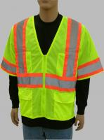 Safety Vest, ANSI Class III Lime