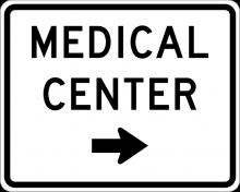 EM-6A Medical Center Directional Sign