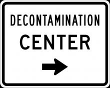 EM-6D Decontamination Center Directional Sign