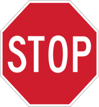 "R1-1  30"" Stop Sign"