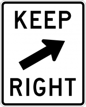 R4-7B Keep Right Sign