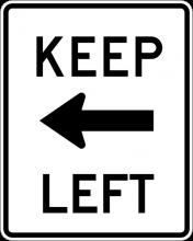 R4-8A Keep Left Sign