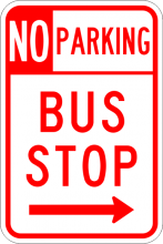 R7-107 No Parking Bus Stop Sign