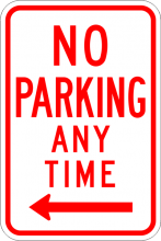 R7-1 No Parking Any Time Sign