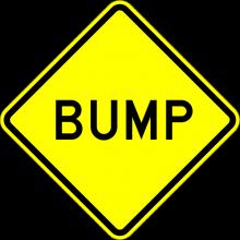 W8-1 Bump Sign