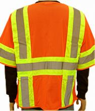 Safety Vest, ANSI Class III Orange