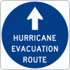 EM-1 Evacuation Route Sign