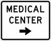 EM-6A Medical Center Directional Sign