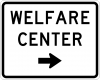 EM-6B Welfare Center Directional Sign