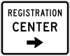 EM-6C Registration Center Directional Sign