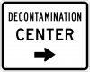EM-6D Decontamination Center Directional Sign