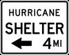 EM-7B Shelter Directional XX Miles Sign
