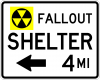 EM-7C Fallout Shelter XX Miles Sign