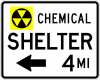 EM-7D Chemical Shelter XX Miles Sign