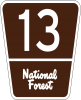 M1-7 National Forest Route Marker