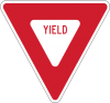 """R1-2  36"""" Yield sign"""