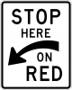 R10-6A Stop Here On Red Sign