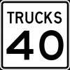 R2-2P  Truck Speed Limit Plaque