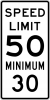 R2-4A  Combined Speed Limit Sign
