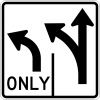 R3-8 Advanced Intersection Lane Control Sign
