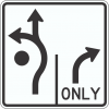 R3-8RC Roundabout Traffic Sign
