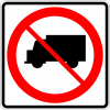 R5-2 No Trucks Symbol