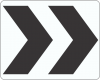 R6-4 Roundabout Directional Chevrons