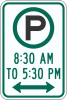 R7-23  Pay Parking xx am to xx pm Sign