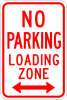 R7-6 No Parking Loading Zone Sign
