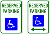 R7-8  Reserved Parking Handicapped Sign