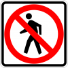 R9-3 No Pedestrian Crossing Symbol