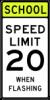 S5-1 School Speed Limit xx When Flashing Sign