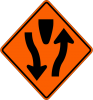 W1-6 Divided Highway