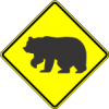 W11-16 Bear Warning