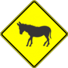 W11-19 Donkey Warning