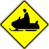 W11-6 Snow Mobile Warning