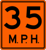 W13-1P  Advisory Speed Plaque