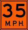 W13-1P  Advisory Speed Plaque