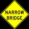 W5-2 Narrow Bridge Sign
